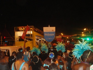 playing mas in Trinidad Carnival